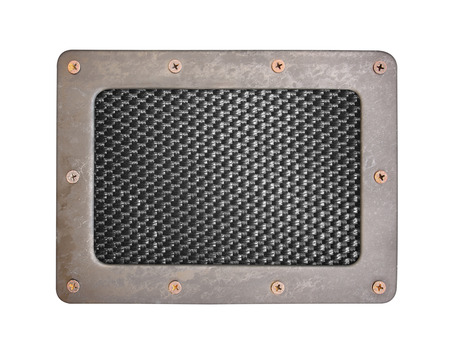 nameboard: nylon background plate with metal frame and screws