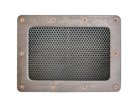 oxidated: metal mesh Seamless Pattern background plate with metal frame and screws