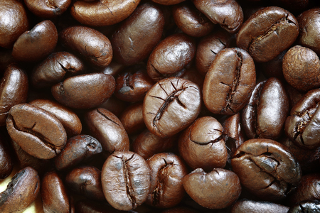 seeds coffee: Coffee beans background Stock Photo