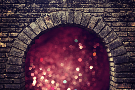 another way: bokeh light from dark brick tunnel