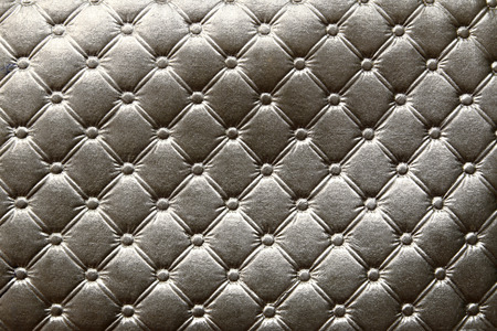 Closeup of dark silver leather pattern delicate striped  background Stock Photo