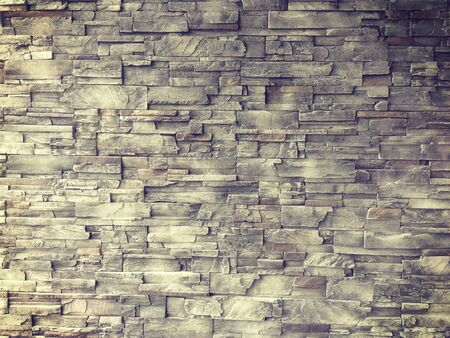 on stones: pattern of decorative slate stone wall surface