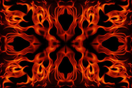 blazed: Abstract fire frame on a black background Stock Photo