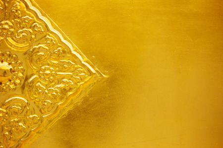 gold metal with patterned for background