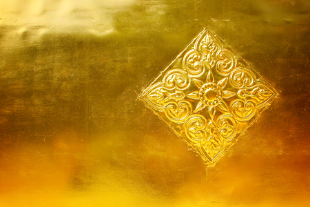 gold metal: gold metal with patterned for background