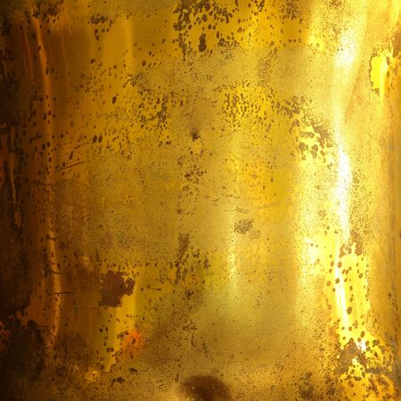 scratches: Scratches on a metallic gold background. Stock Photo