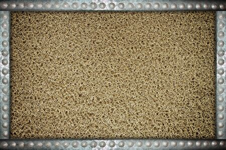 rivets: Dark mat background with metal rivets frame