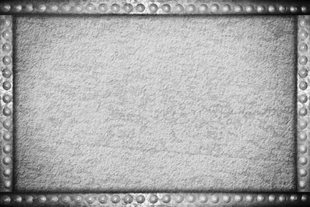 concrete texture with metal rivets frame