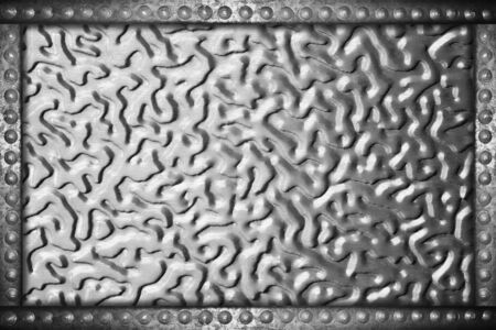rivets: aluminum plate background with metal rivets frame