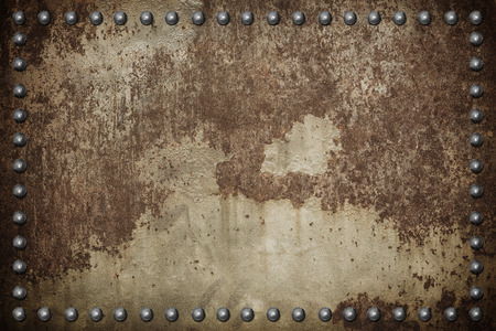 rust: old metal iron rust background with rivet.
