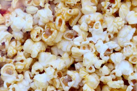 Popcorn, snacks a background Stockfoto