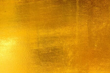 Old gold metal surface background and texture