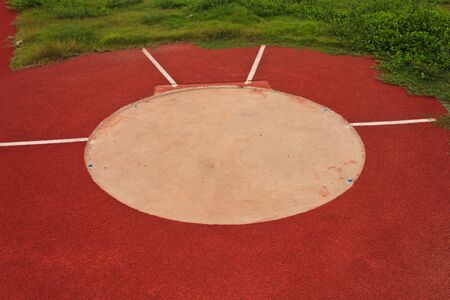 Discus throwing  photo