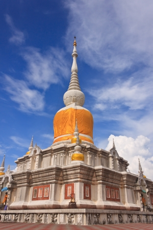 The pagoda at Mahasarakham province of Thailand photo