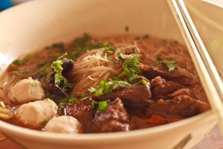 cha: Thai Noodles , asian noodle Stock Photo