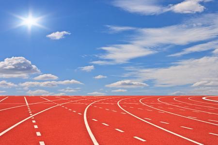 Running tracks and sky photo