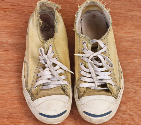 vintage age-worn sneakers photo