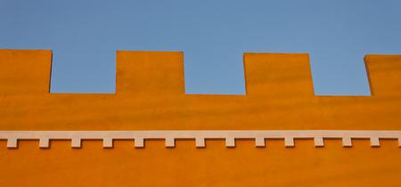 housetop: Yellow wall