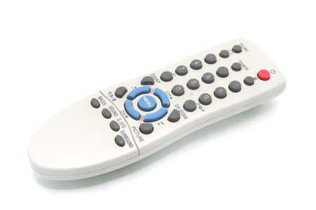 vcr: TV remote control isolated