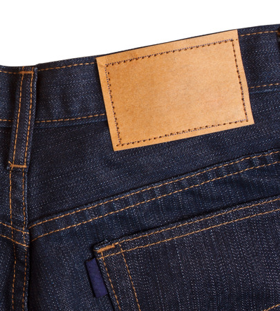 jeans pocket: Blue jeans pocket.
