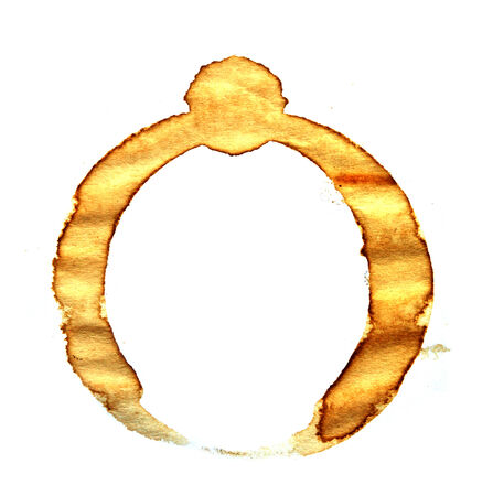 Coffee cup rings isolated on a white background  photo