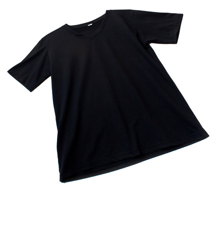 v neck: Black tshirt template ready for futher modification on white