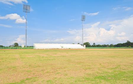 leeg voetbalveld
