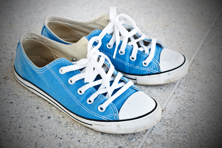 blue sneaker photo