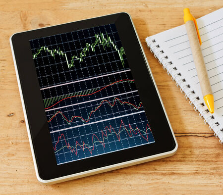 Business background  Market Analyze Bar graphs, diagrams, financial figures  Forex  photo
