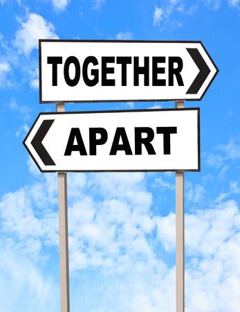 Resultat d'imatges de juntos pero separados