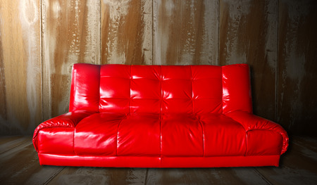 red sofa: Red Sofa Stock Photo