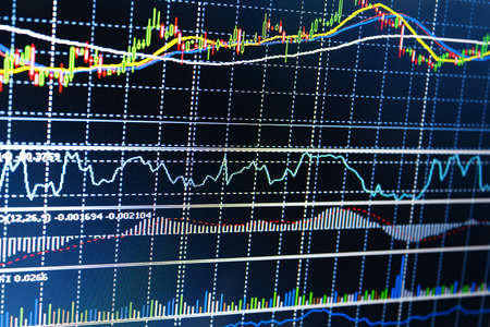 Forex trading business concept in kleur