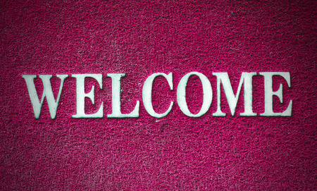 background of welcome carpet photo