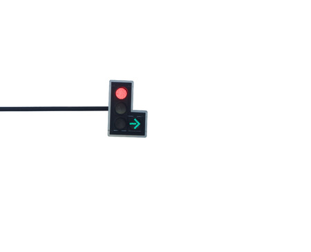 allow: Red color on the traffic light
