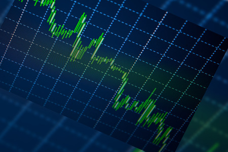 exchange loss: Business screen stock exchange data graph background