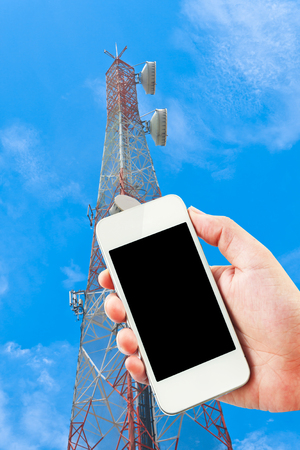 gprs: 4G LTE wireless GPRS on digital telephone. Stock Photo