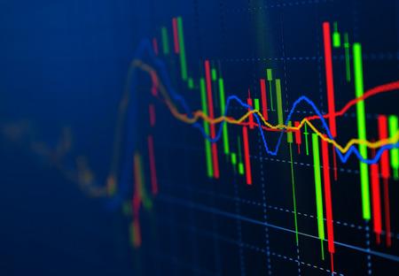 ビジネス画面証券取引所データ グラフ背景