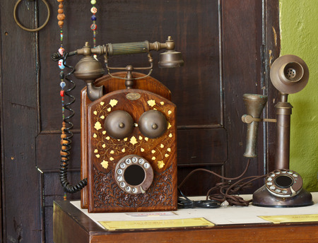 old telephone vintage photo