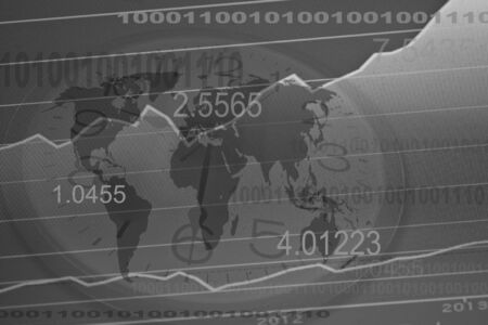 Business screen stock exchange data graph background photo