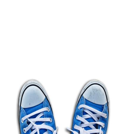 立って靴のペア