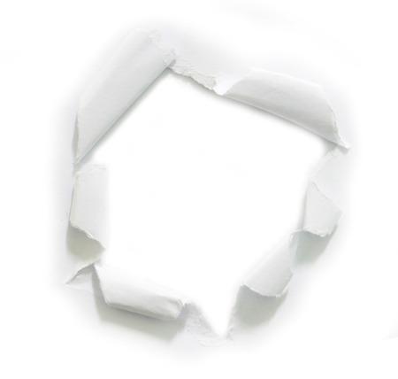 紙に穴をリッピングしました。コピー スペース