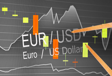 Data analyzing in foreign market: the charts and quotes on display. Analytics in pairs EUR  USD