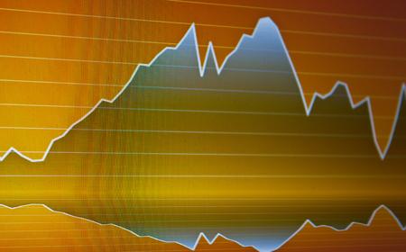 Stock market graph background photo