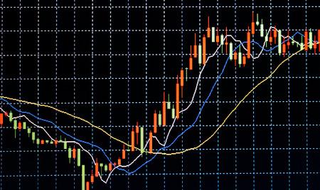 ビジネス画面証券取引所データ グラフの背景 写真素材