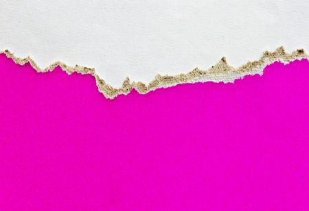 space for copy: Torn pink paper with space for copy. Stock Photo