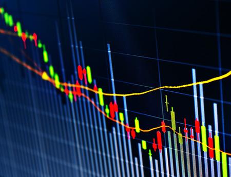 Zakelijke scherm beurs data grafiek achtergrond Stockfoto
