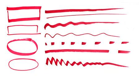 tachado: L�piz dibujado marcas rojas