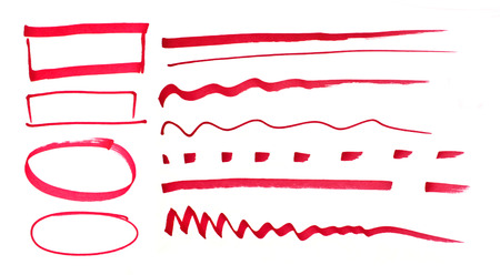 marked: Red pen drawn marks