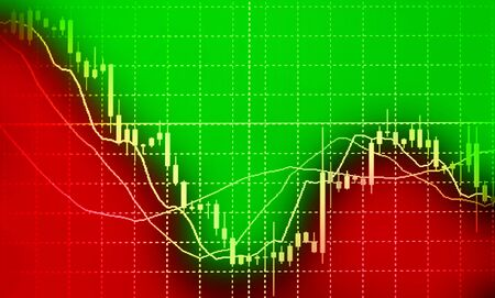 exchange loss: Business background. Market Analyze.Bar graphs diagrams financial figures. Forex.
