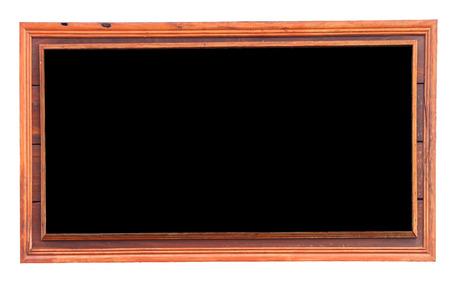style advice: wooden menu board. Stock Photo